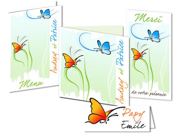Faire part Mariage - Thème Butterfly
