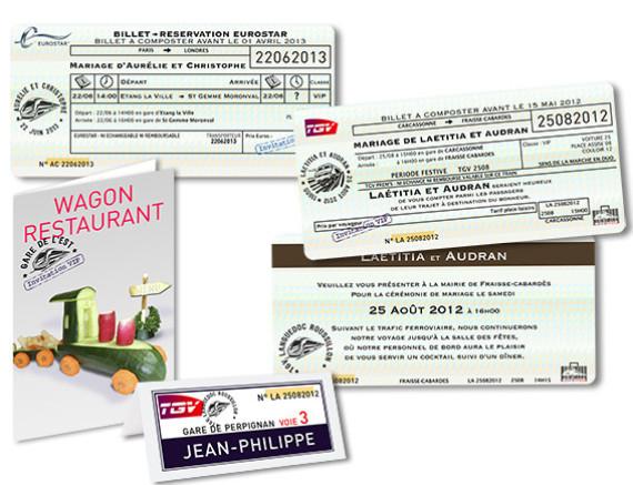 Mariage Thème Billet TGV