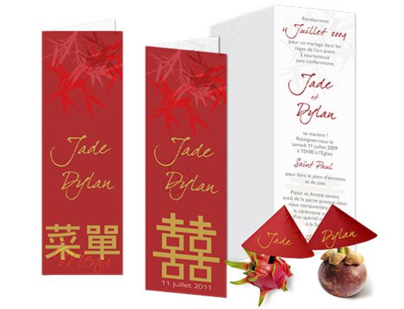 Faire part Mariage - Thème Japonais
