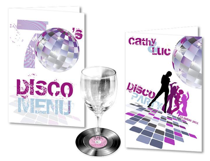 Faire part Mariage Disco