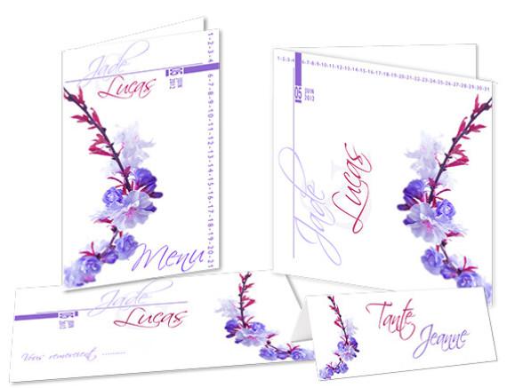 Faire part Mariage - Thème Floral