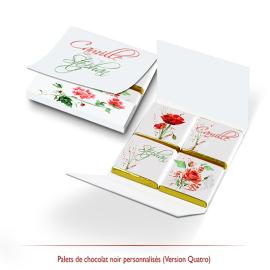 Pochette chocolats de mariage personnalisés