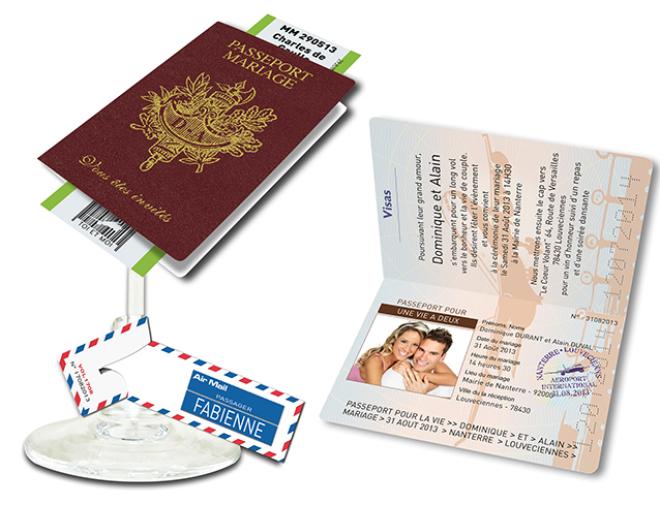 Faire part Passeport Passeport de Mariage