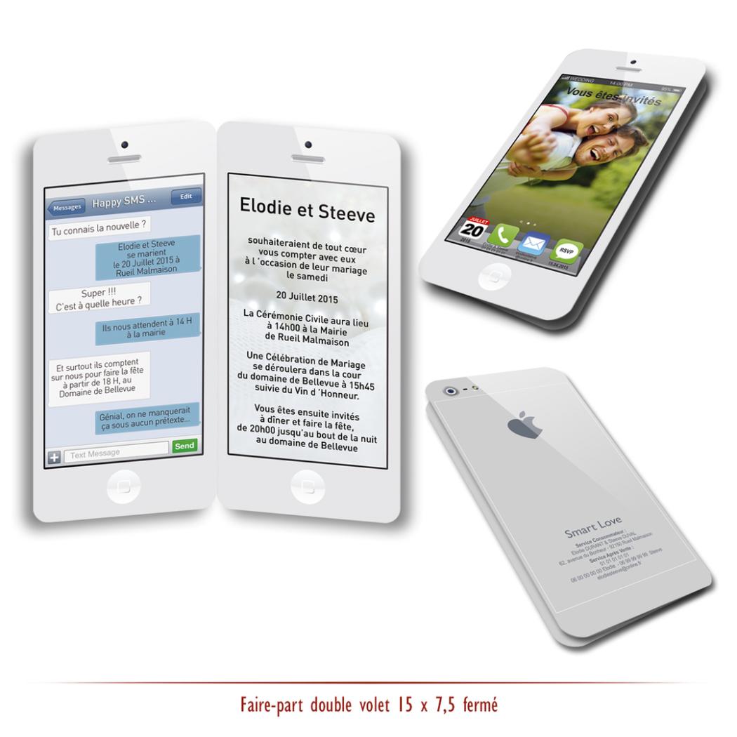 Faire part Mariage smartPhone