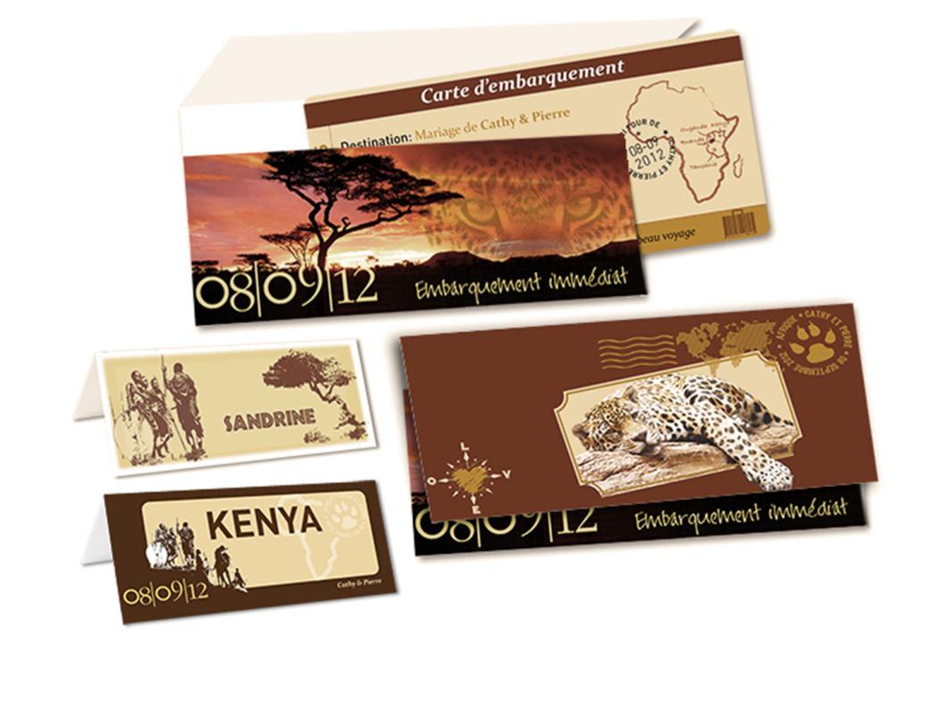 Faire part de Mariage Safari Afrique