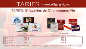 Etiquettes champagne personnalisées