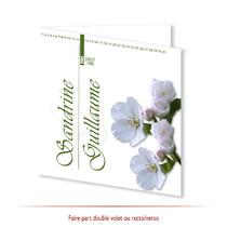 Mariage - Thème Fleurs Fruitier