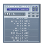 Escort table TGV