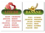 Escort table Fruits