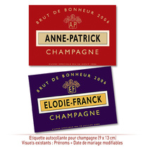 Champagne personnalisable Mariage