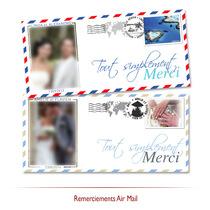 Remerciements mariage Air Mail