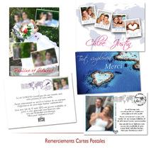 Remerciements mariage carte postale