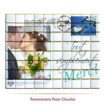 Remerciements mariage  en chocolats