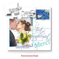 Remerciements mariage puzzle