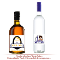 Etiquette Autocollante Vodka et whisky