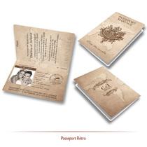 Faire-part mariage passeport français