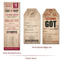 coupon réponse vintage