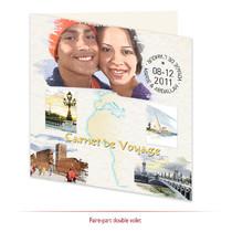 Faire-part Mariage - Carnet de voyage