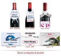 Décors de bouteille Personnalisés