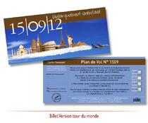 Faire-part Mariage - Billet travel