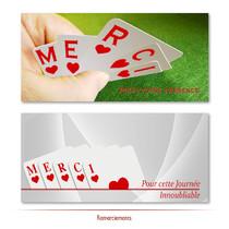 Mariage - Thème Cartes à Jouer