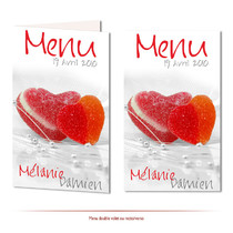 Menu de mariage  Pâte de fruits