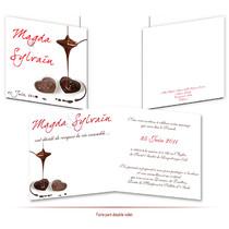 faire-part de mariage chocolat