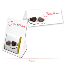 marque-place chocolat