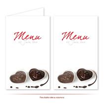 Menu de mariage chocolat