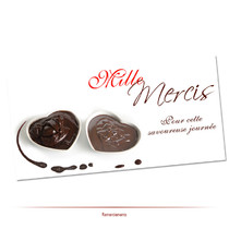 remerciements chocolat