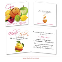 faire-part de mariage fruits