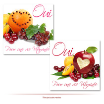faire-part fruits