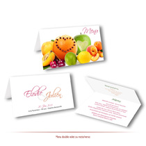 Menu de mariage fruits