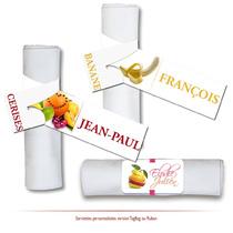 marque-serviette personnalisés fruits