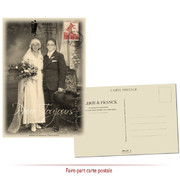 Faire-part mariage forties