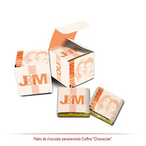 Chocolats personnalisés Romantique