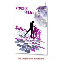 Faire-part mariage disco