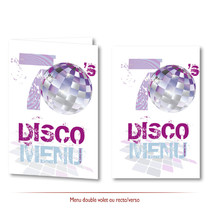 Menu mariage disco