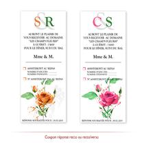 Coupon réponse floral