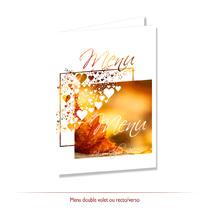 Menu mariage automne