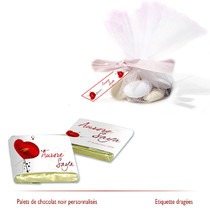 chocolats personnalisés coquelicots