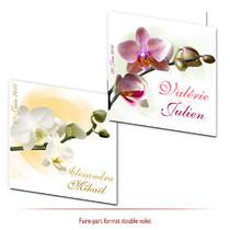 Faire-part mariage orchidées