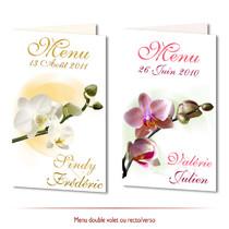 faire part Orchidées