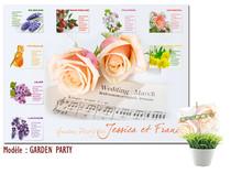 Plan de Table Fleurs