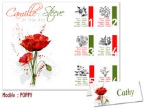 Plan de Table Mariage - Poppy