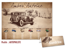 Plan de table - vielles voitures