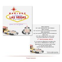 Invitation mariage Las vegas à gratter