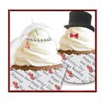 Faire part Mariage thème Cupcake