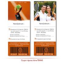 Coupon réponse invités mariage thème TENNIS
