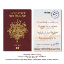 Menu mariage passeport